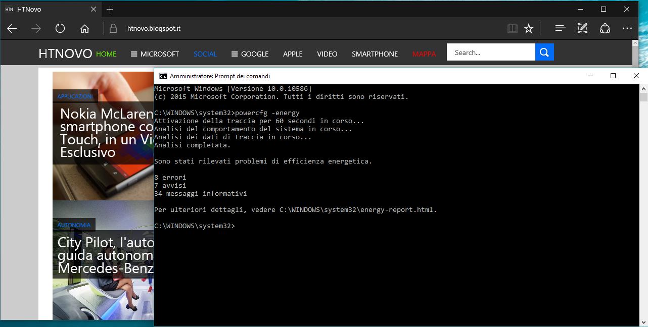 Come generare un Report di Efficienza Energetica in Windows (10 - 8 - 7) 2 HTNovo