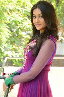 Actress Pooja Jhaveri Latest Stills in Purple Salwar Kameezt at Dwaraka Success Meet  0134.JPG