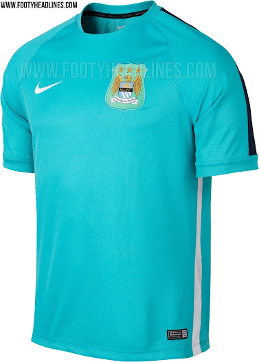 timeless design 91abc 18b8c Manchester City 2015 Training and Pre-Match Kits Revealed ...