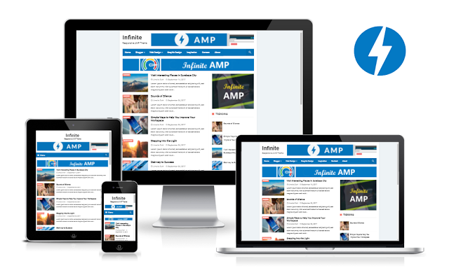 Infinite Amp Blogger Template responsive