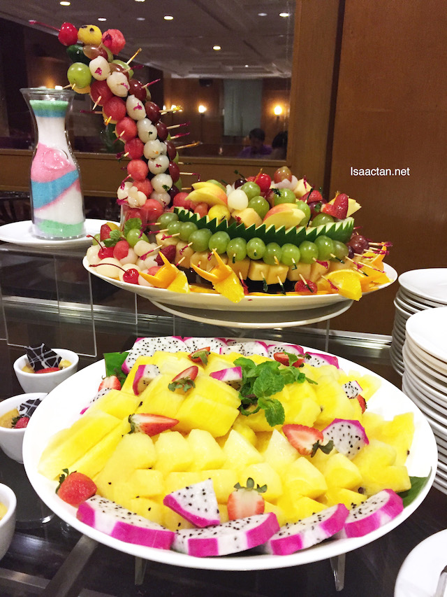 Fruits and dessert spread