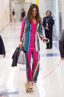Priyanka Chopra in Colorful Jumpsuit arriving at JFK Airport New York 18 June 2017 ~  Exclusive 004.jpg