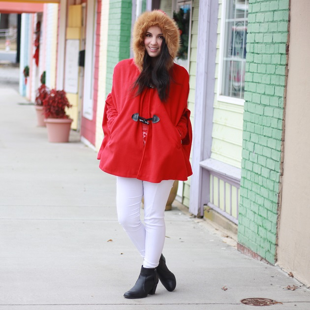 Red Fur Trim Cape