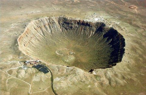 Cráter de meteorito en Arizona.