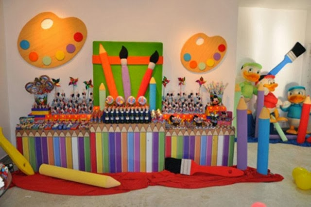 Ideias para Festa Pintando o Sete
