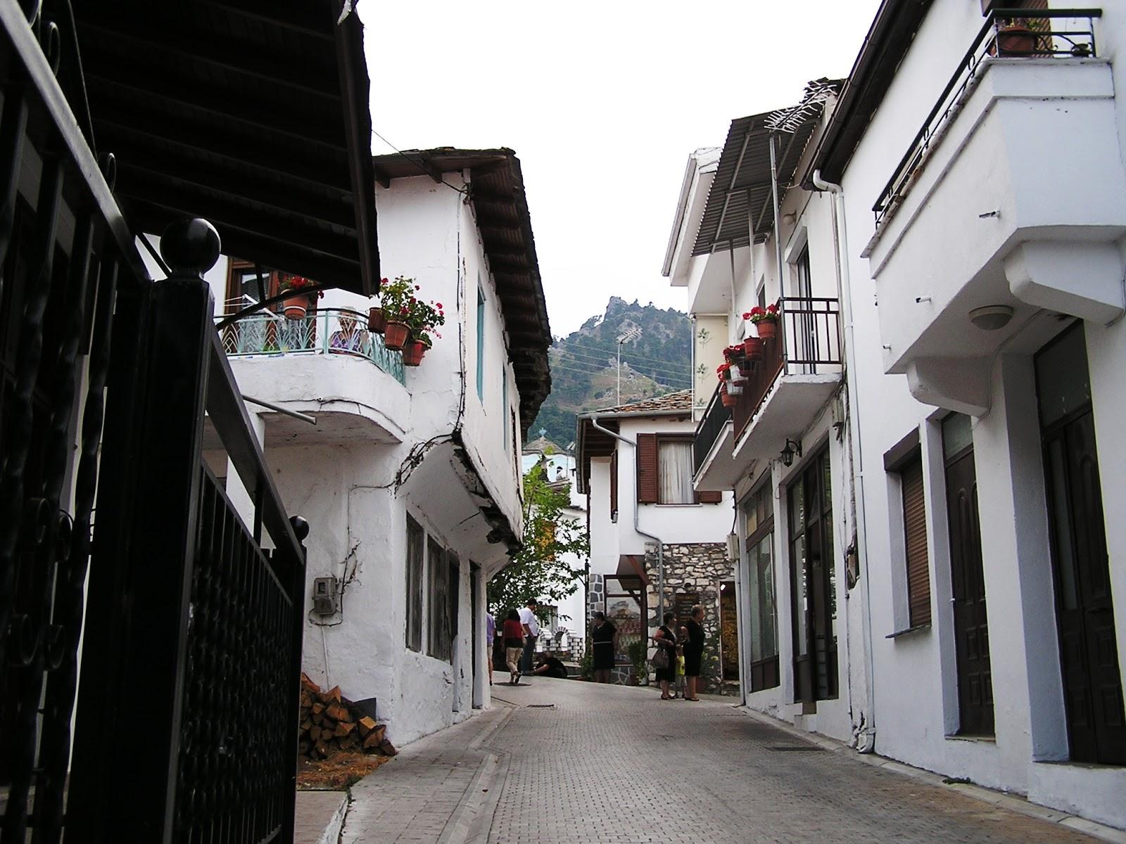 horská vesnice Panagia na ostrově Thassos Řecko
