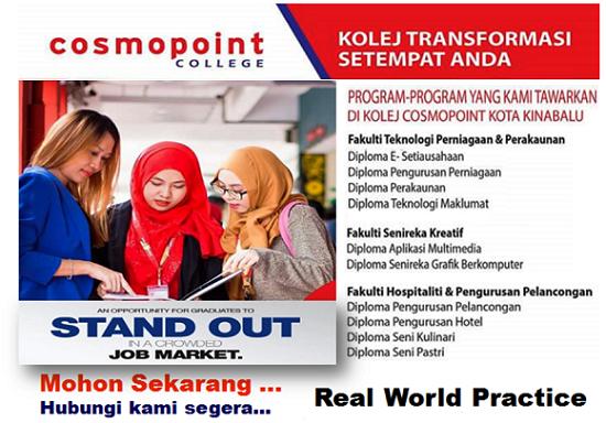 Pendaftaran Kolej Cosmopoint Sabah, Kolej Sabah