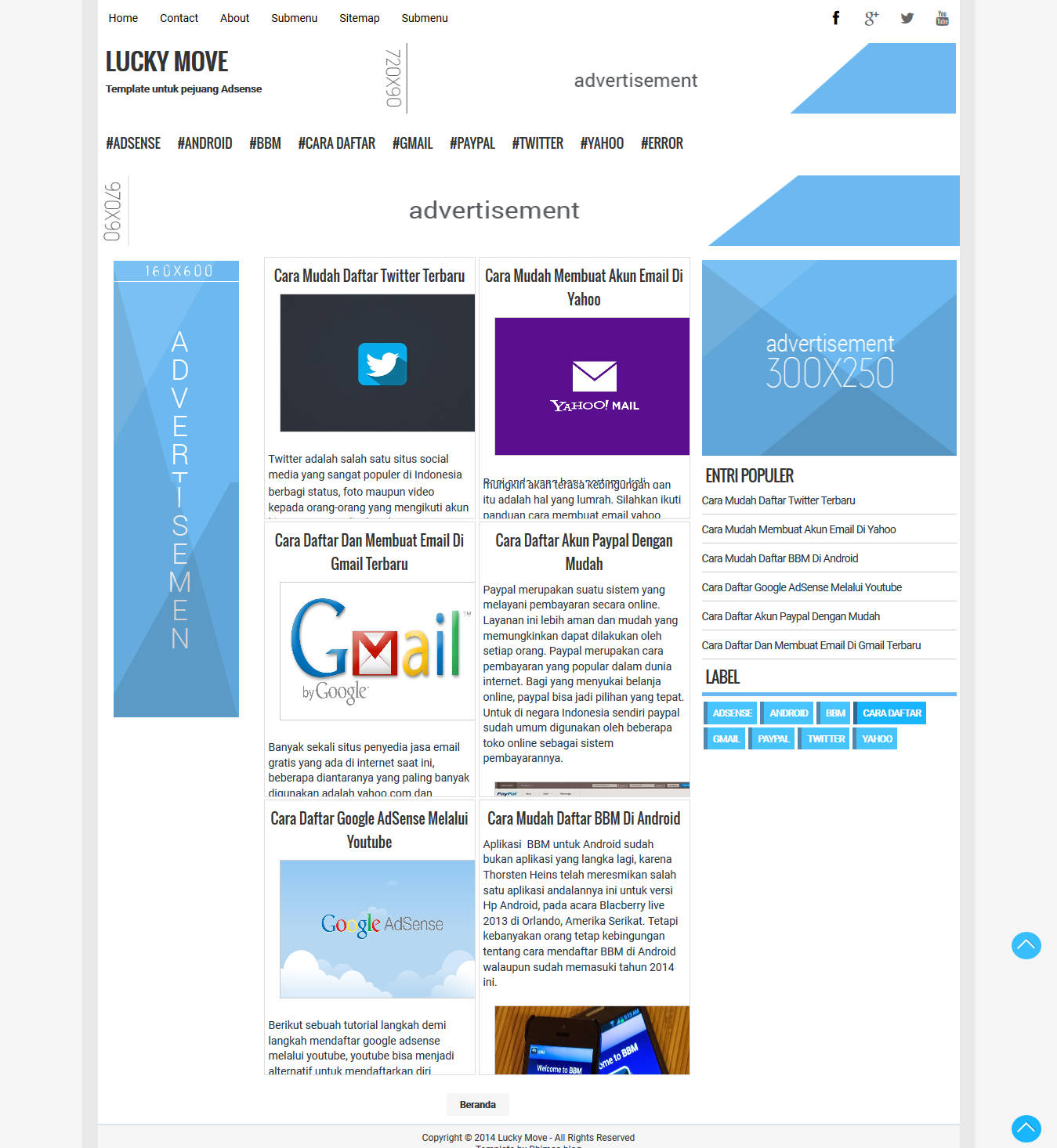 Lucky Move High CTR Responsive Blogger Template