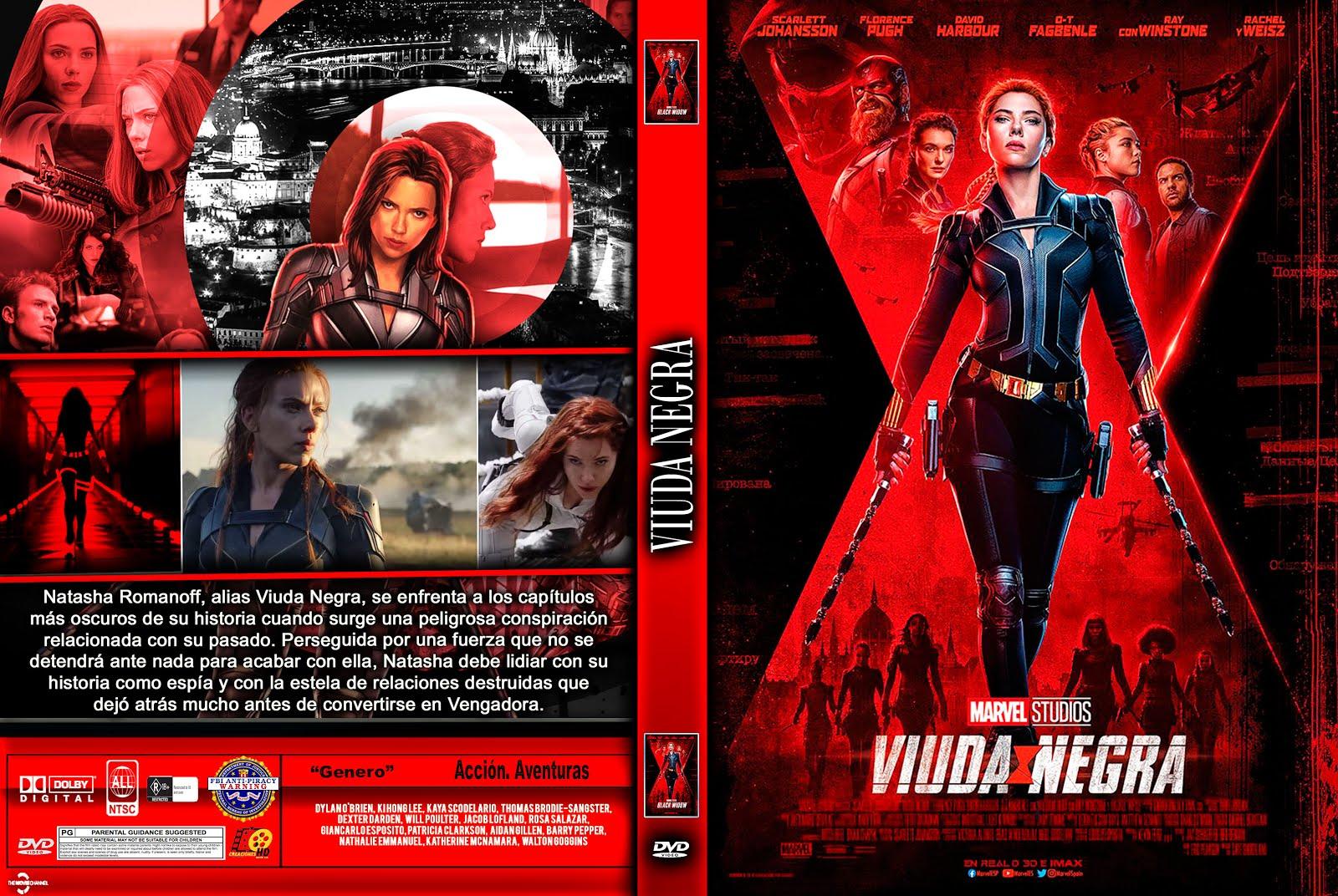 VIUDA NEGRA - Black Widow caratula by creaciones hd