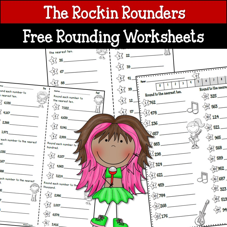 Teacher\'s Take-Out: Rounding Activities and Free Worksheets