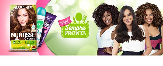 Clube Sempre Pronta Garnier: Receba produtos para testar gratuitamente