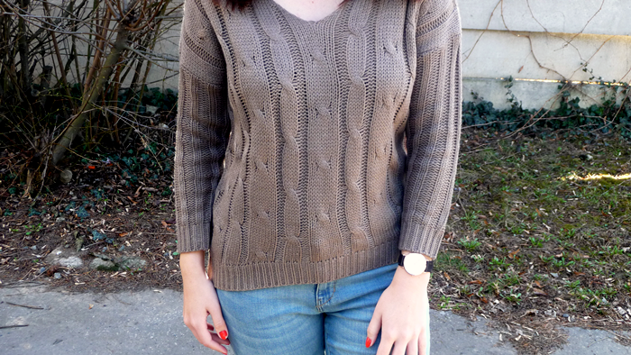 Loose Criss Cross Knitted Sweater | Rosegal.com