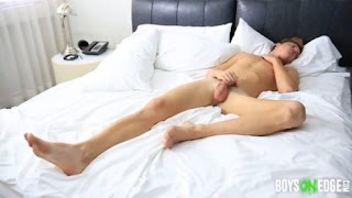 Naked Model Alexis Slowly Jacks Himself Off And Cums
