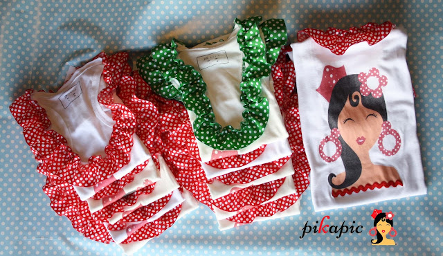 Camisetas estampadas flamenca Pikapic