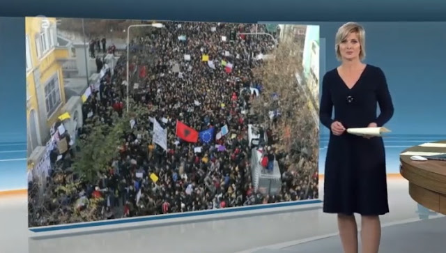 German ZDF devotes reportage to students protest in Tirana