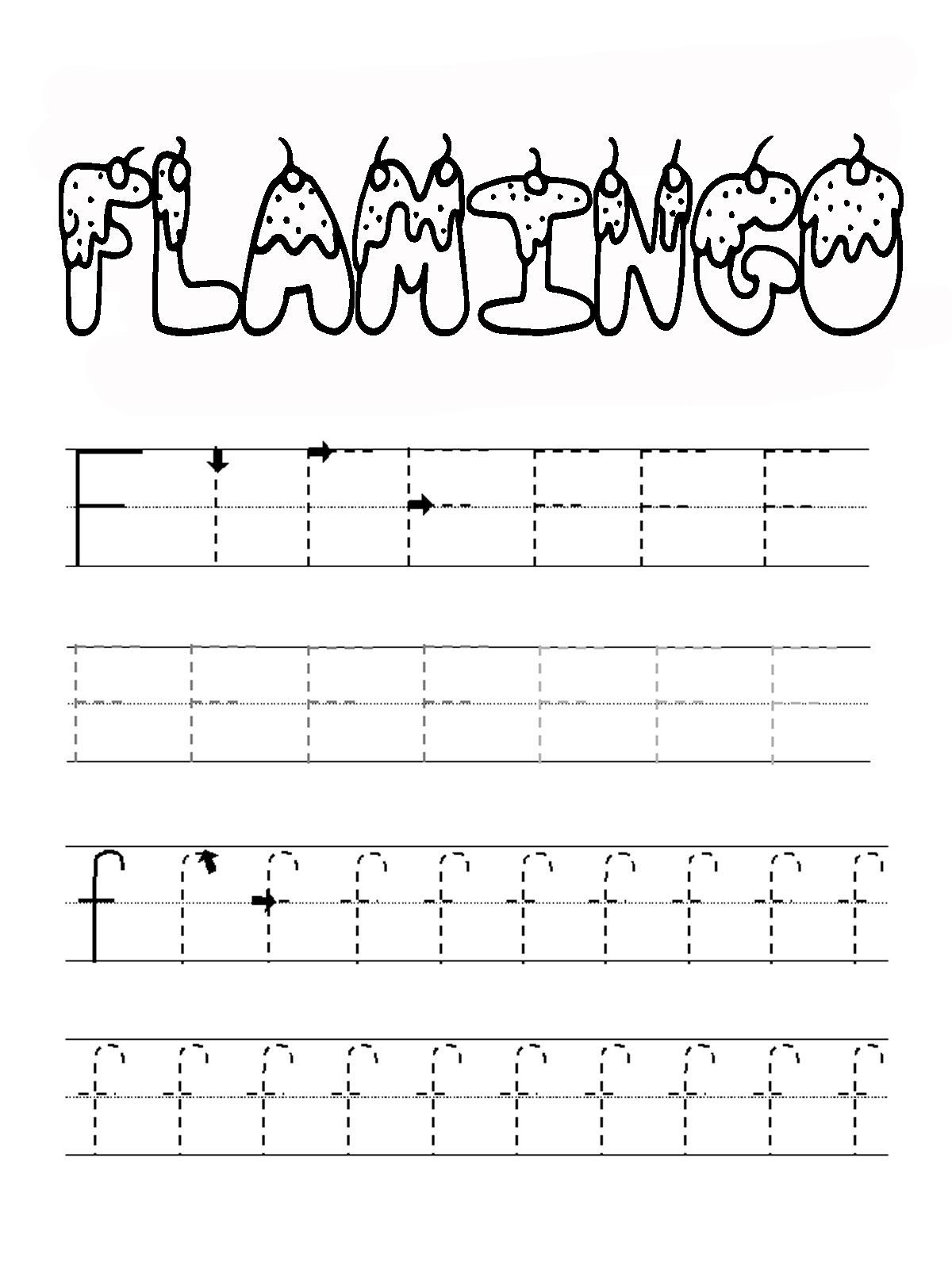 Belajar Menulis Alfabet F