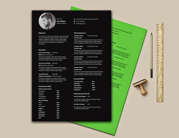 Ultra Minimal Resume PSD Template