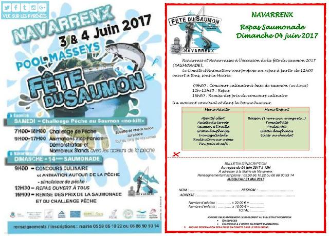 Saumonade et Fête du Saumon Navarrenx 2017