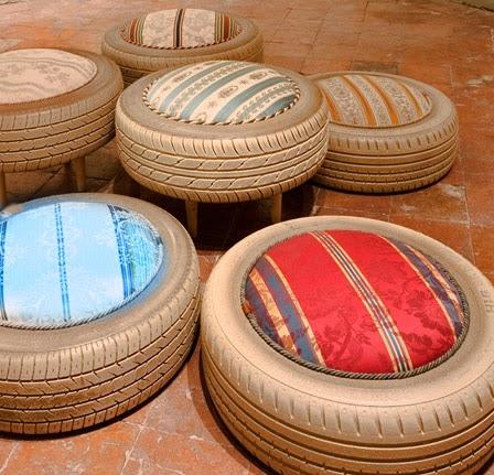 smutje rosa auf safari autoreifen aus l wenzahn. Black Bedroom Furniture Sets. Home Design Ideas