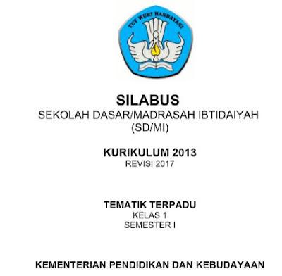 Silabus SD/MI Tematik Kurikulum 2013 Revisi 2017 untuk Tahun 2019-https://bloggoeroe.blogspot.com/