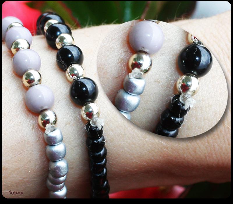 finition bracelets perles de Félicia box