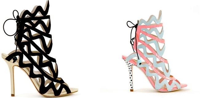Sophia Webster aztec shape shoes