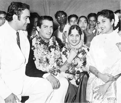 Marriage of Shammi Kapoor and Geeta Bali - 1955