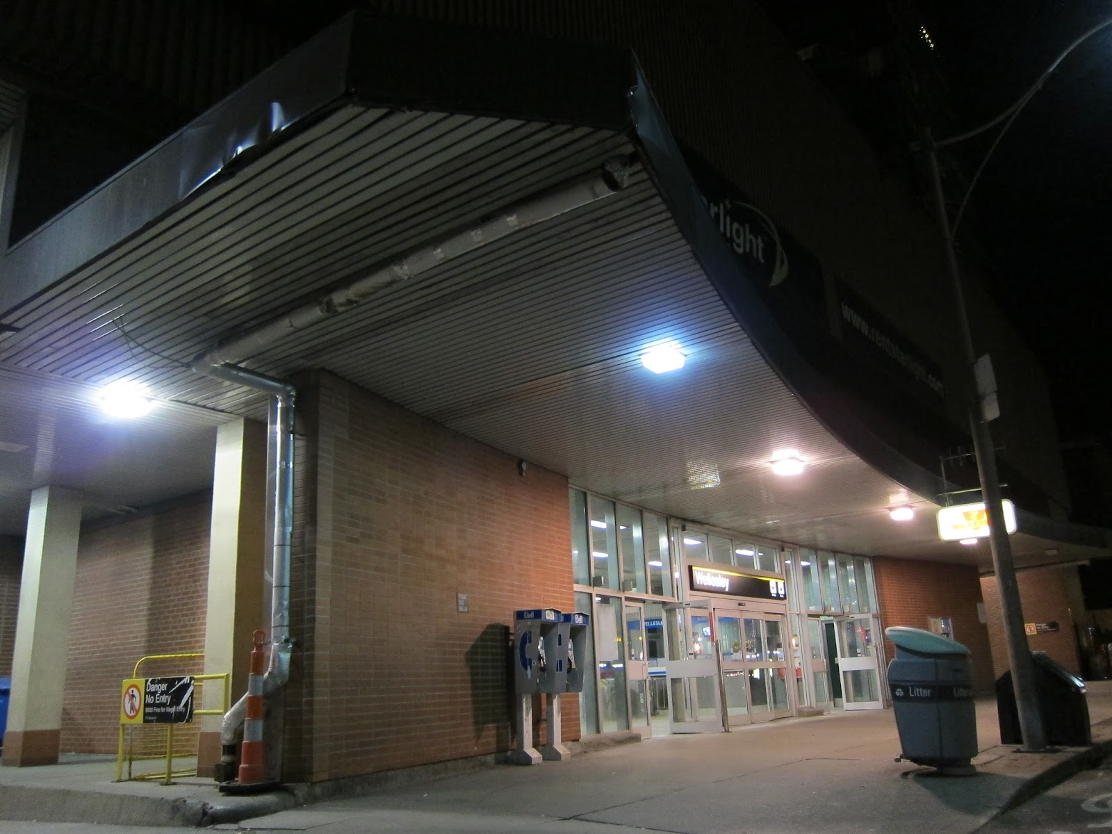 Wellesley station front entrance