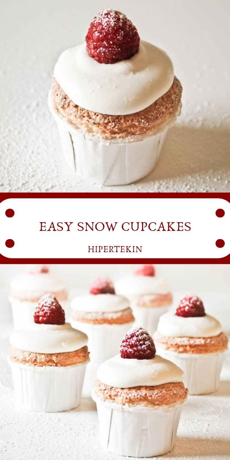 EASY SNOW CUPCAKES