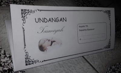 Contoh undangan Tasmiyah terbaru dan unik file Word