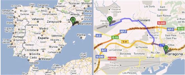 Tarragona map