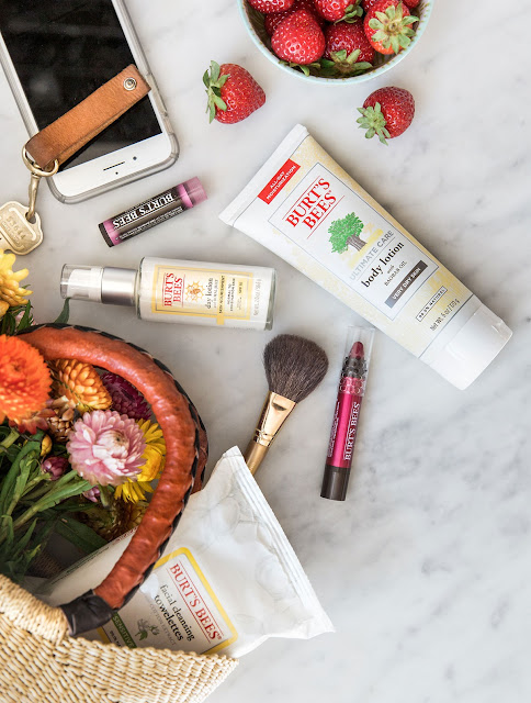 Burt's Bees skincare set on sale #ad #slaytheflatlay