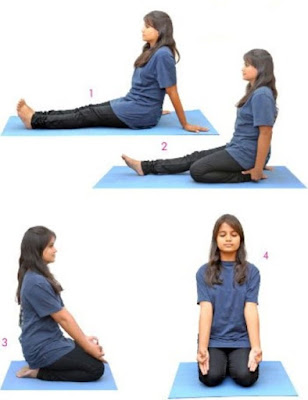 vajrasana step by step