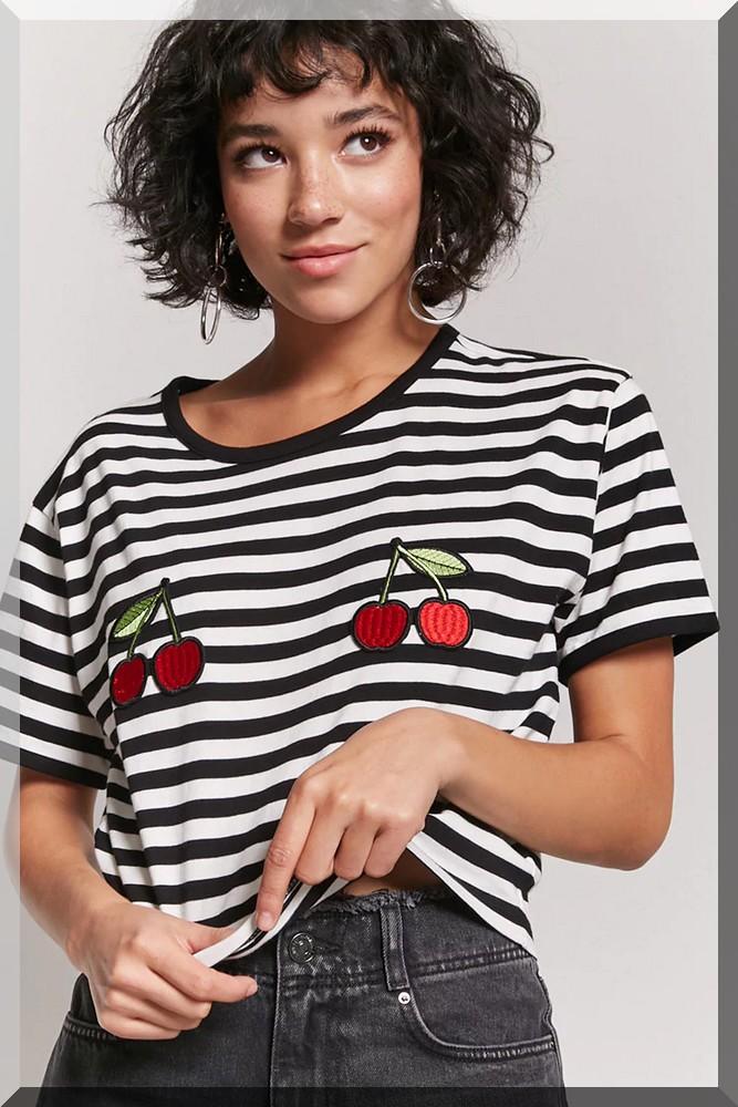 wishlist-tee-shirt-cerise-marinière