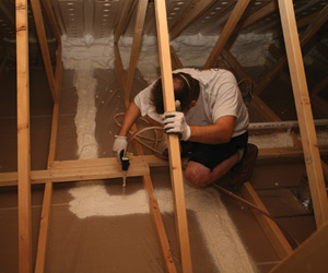 Air sealing attic floor