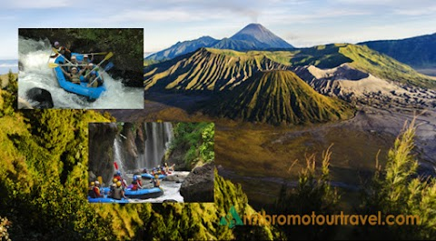 Mount Bromo and Noars Water Rafting Tour