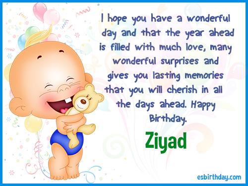 Ziyad Happy Birthday