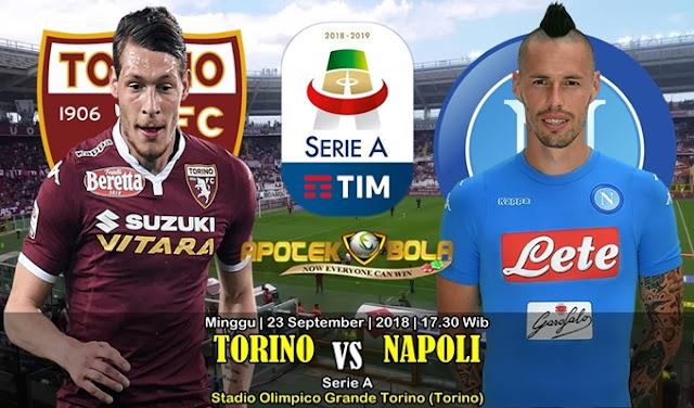 Prediksi Torino vs Napoli 23 September 2018