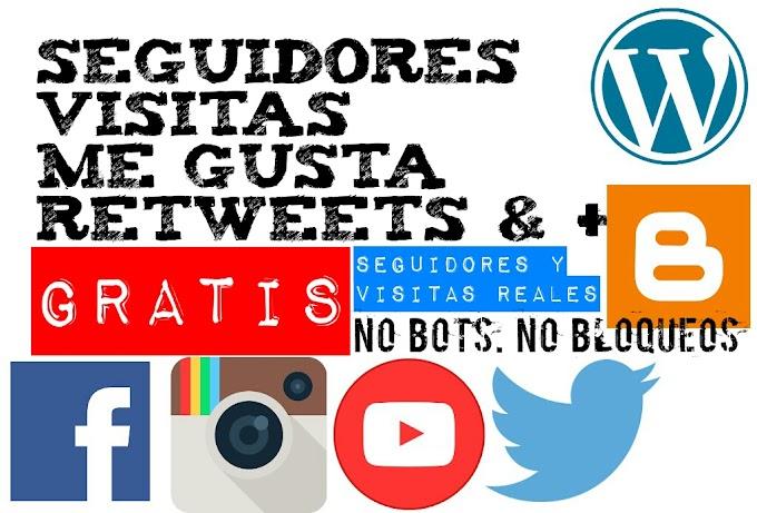 Gana seguidores, Likes, Suscriptores y visitas para tu web GRATIS!