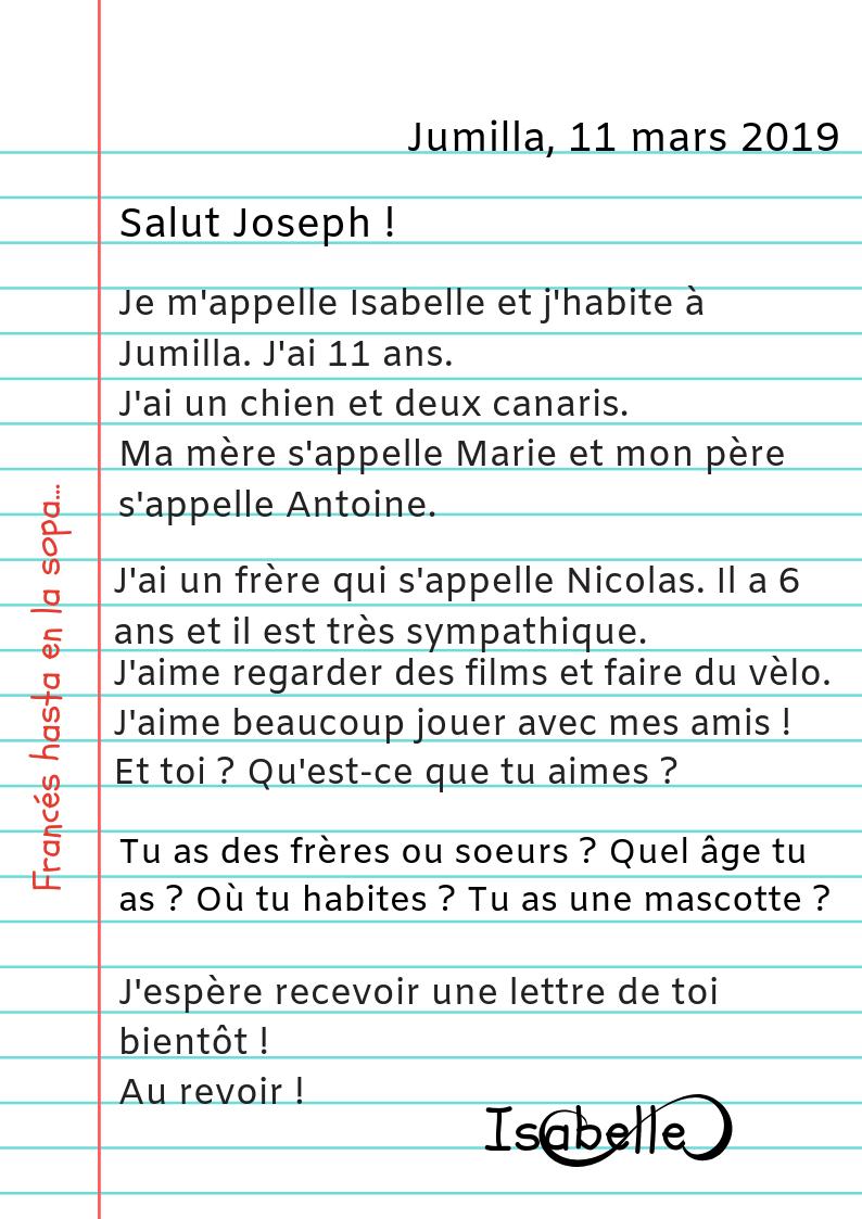 Francés Hasta En La Sopa Ma Première Lettre
