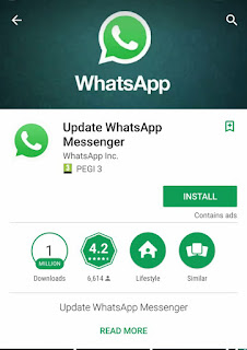 Incredible!- Fake whatsapp hits more than 1 million downloads from Google Play- Oshetech