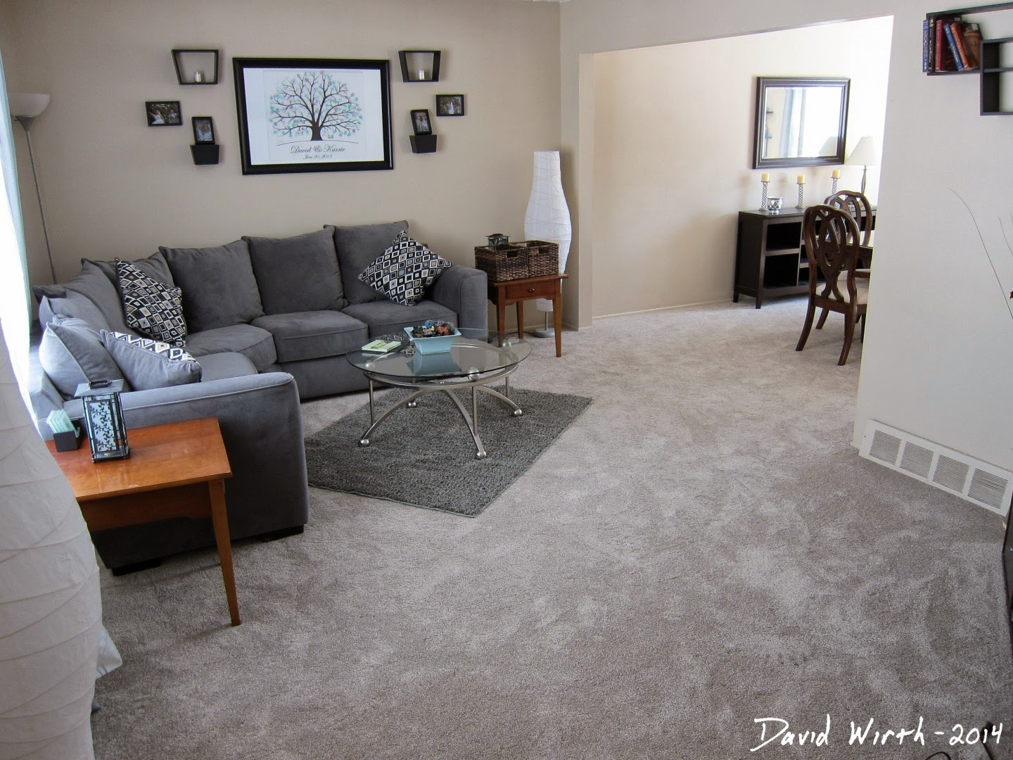family room cost, carpet from home depot, final install cost