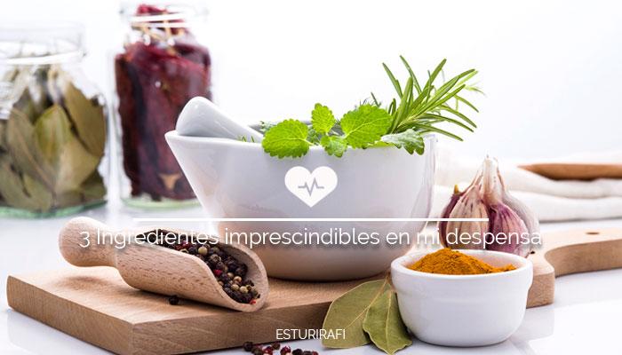 ¿Qué 3 Ingredientes son imprescindibles en tu despensa ecológica?