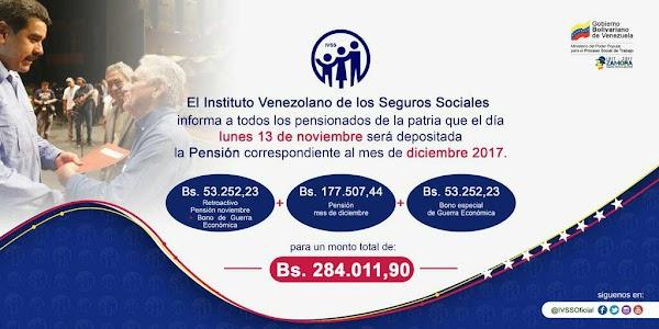 VEA FECHA DE PAGO DE PENSION MAS EL RETROACTIVO DEL MES DE DIC '17