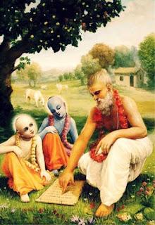 Lord Krishna and Balaram learned 64 kalas under the tutelage of  their Guru Sandipani Muni. After killing Kamsa, Lord Krishna and Balaram went to the Aashram of Guru Sandipani in the city of Avanthi (Ujjain).