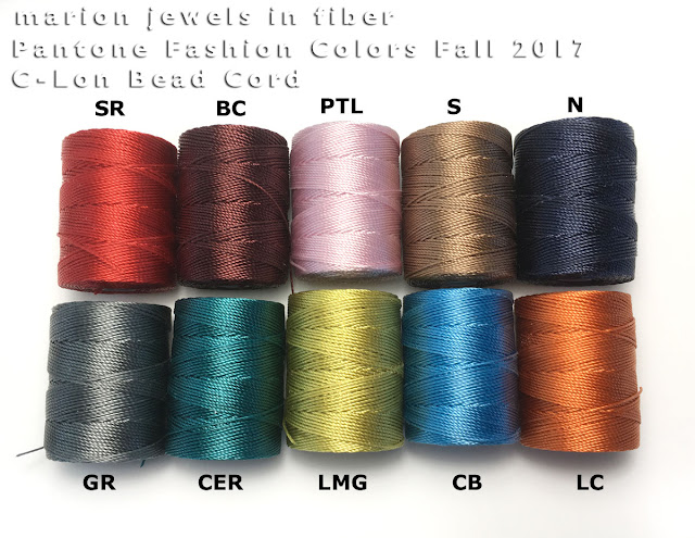 C-Lon Bead Cord Colors/Pantone Colors Fall 2017