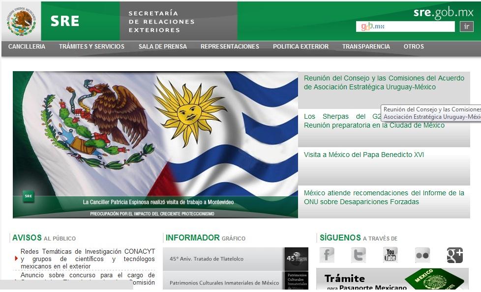 Secretaria de Relaciones Exteriores en Mexico