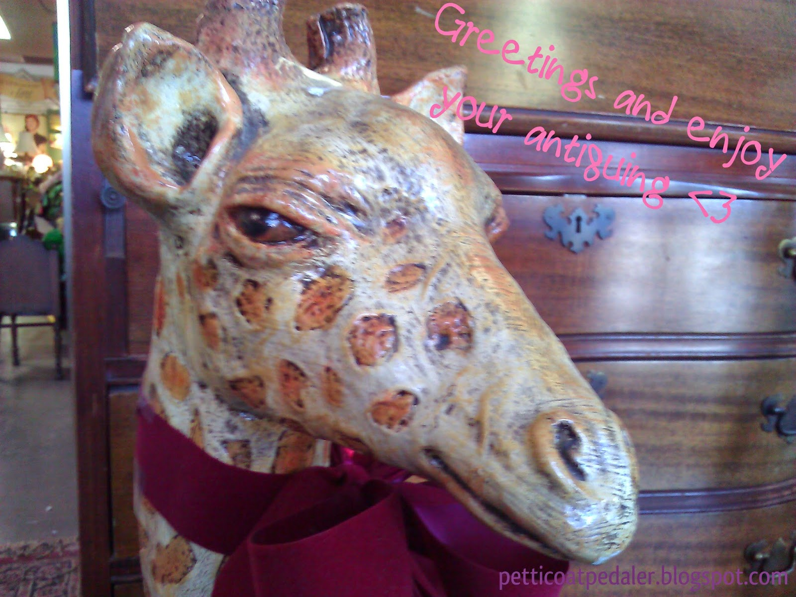 Vintage Giraffe with a Sense of Style