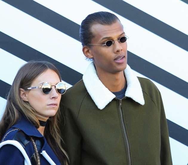 Le chanteur belge Stromae a fait quelques apparitions à la Fashion Week de Paris