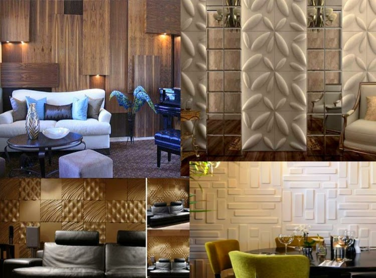 Decorative wall panels: wood and plastic 3D wall panel